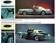 1976 Continental Mark IV Designer Series (aldenjewell) Tags: 1976 lincoln continental mark iv givenchy bill blass edition mailer brochure designer series