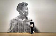 A closer look. (Bernard Spragg) Tags: art viewer onlooker luix gallery compactcamera cco