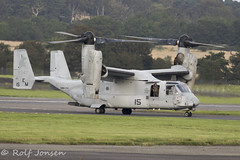 168347 Bell-Boeing MV-22B Osprey United States Marine Core Prestwick airport EGPK 23.08-19 (rjonsen) Tags: plane helicopter military aviation airside taxying