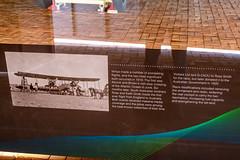 Historic England-Australia Flight Info (Serendigity) Tags: 1919 adelaide australia englandaustralia geaou sa southaustralia vickers vimy airrace aircraft airport aviation bomber display hangar historic sign winner