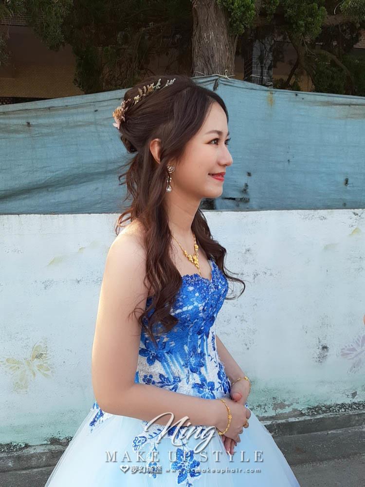 【新秘羽寧 】bride婉真 訂婚造型 /韓系盤髮,乾燥花造型
