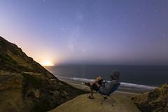 Milky Way Self-Portrait at Torrey Pines Gliderport (slworking2) Tags: lajolla california unitedstatesofamerica selfportrait selfie milkyway sandiego beach coast night longexposure