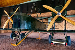 Historic Vickers Vimy Aircraft (Serendigity) Tags: 1919 adelaide australia englandaustralia geaou sa southaustralia vickers vimy airrace aircraft airport aviation bomber display hangar historic winner