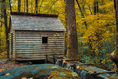 Historic Mill on the Roaring Fork Motor Nature Trail (Michael Smith PhotoArt) Tags: greatsmokymountainsnationalpark roaringforkmotortrail landscapephotography travelphotography fall fallcolors autumn architecturephotography