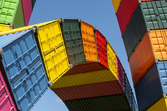 Art with containers (Jan van der Wolf) Tags: map198324v art artwork kunst lehavre containers shippingcontainers catenedecontainers colors colours kleuren vincentganivet