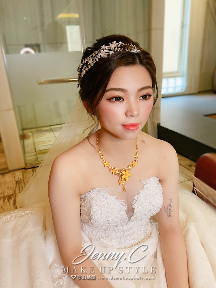 【新秘蓁妮】bride 紫綺 結婚造型 / 韓系風