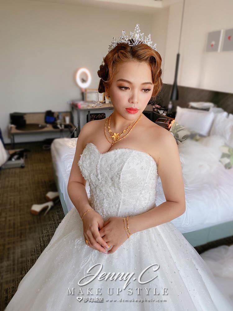 【新秘蓁妮】bride MOMO 結婚造型 / 復古佳人,歐式俐落