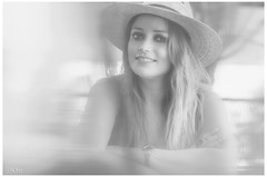Erika (David Corona Fotografía ( draco_66 )) Tags: beautiful blancoynegro blackwhite portrait portraiture hair girl femme eyes smile