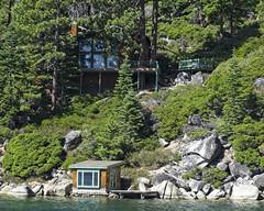Boat  House (markjwyatt) Tags: fujifilmxt2 fujinon1855mmzoom laketahoe california house boathouse lake trees shadow light tahoesep2019