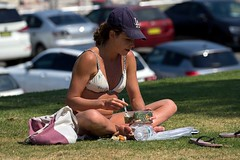 Lunch with a Vitamin D Supplement (l plater) Tags: bondibeach sydney
