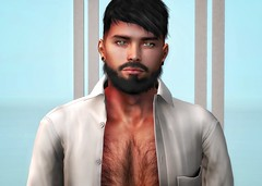 [ 📷 - 137 ] (insociable.sl) Tags: hairy portrait relax morning sexy shirt beard man boy male model magnificient edit sl secondlife
