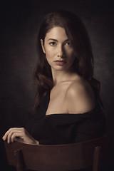 Sara (luca.onnis) Tags: lucaonnis photography portrait portraiture pictorial beautifulgirl shoulder blackdress