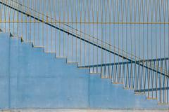 The blue steps (jeffclouet) Tags: paris france europe nikon nikkor d850 escalier escaleras steps stairs couleurs colours color architecture arquitectura minimal minimalism blue bleu azul yellow jaune amarillo geometric geometrico graphique graphic modern moderno urban urbain urbano lines abstract abstrait