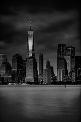 Concrete Jungle... (Aleem Yousaf) Tags: world white black water monochrome silver mono rocks downtown manhattan district lower trade financial glass one soft little steel center telephoto filter lee 70200 graduated density stopper neutral building architecture modern digital skyscraper river concrete lights nikon shadows september east nikkor 2019 d850 camera new york city nyc travel usa apple america photography big flickr cityscape united states walk gotham jungle mood atmosphere dark comics dc fantasy batman