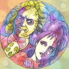 Lydia and Beetlejuice (hinxlinx) Tags: dailyart illustration character movie beetlejuice lydia timburton halloween winonaryder michaelkeaton 甲蟲汁 陰間大法師 薇諾娜瑞德 hinxlinx ericlynxlin elynx 軒 instaart artofinstagram