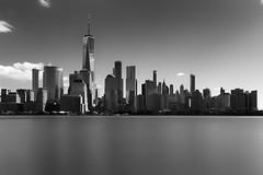 Downtown Manhattan (erichudson78) Tags: usa nyc newyorkcity paysageurbain urbanlandscape sky skyline skyscraper ciel gratteciel longexposure poselongue noiretblanc blackandwhite nb bw canonef24105mmf4lisusm canoneos6d river hudsonriver fleuve eau water cityscape manhattan town ville ndfilter filtrend