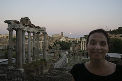 Terry with full Moon - DSC03899_ep (Eric.Parker) Tags: rome roma italy 2019 europe campidoglio moon fullmoon moonrise roman forum terry