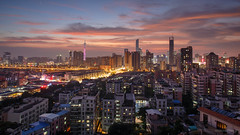 Twilight city (kevinho86) Tags: 24mm eos6d canon canton colour city cityscapes cloudy skyline 空 sky sunset urban 雲 magichour 城市 天空 guangzhou landscape scenery scape downtown 建築 twilight wideangle 天際線 art 都會 pearlrivernewtown skyscraper 空·雲の寫真 ontheroof innerlights 珠江新城 内透 longexposures lightshadow architecture highview 日落 169
