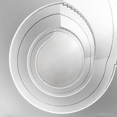 Cleanliness (bjoernahrensfotografie) Tags: munich münchen architecture architektur minimal abstract spiral lookup staircase stairs treppe treppenhaus escalier clean white