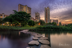 No One Else Can Walk This Path, Because I Was Standing There (Alec Lux) Tags: angmokio bishan kallang singapore apartment architecture blue bluehour building buildings city cityscape exterior facade flat golden goldenhour haida haidafilters lights longexposure outdoor outside park river skyline skyscraper sun sunset tower urban