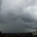 Developing thunderstorm approaching Exeter city centre