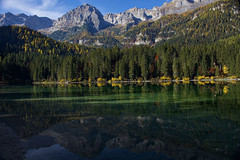 Green Tovel (giannipiras555) Tags: dolomiti brenta green lago tovel trentino riflessi montagna natura landscape panorama paesaggio autunno nikon travel