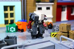Hammerhead W14 (Devid VII) Tags: devid vii moc lego drone minifigures minifigs scene diorama devidvii mecha mech drones hammerhead white dark red dbg