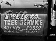 Peters Tree Service (Bytormsa) Tags: nikon nikkor film bw tmax chevy truck rust d76