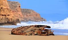 SS Ferret (Teutonic01) Tags: shipwreck ferret steamship boiler innesnationalpark southaustralia beach capespencer waves