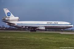 N83NA / LGW 14.04.1981 (propfreak) Tags: propfreak propfreakcollection slidescan eggk lgw gatwick london n83na dc1030 panam national n142aa americanairlines transaero