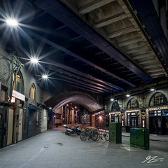 The Crush (TVZ Photography) Tags: square 1x1 hdr highdynamicrange stkatharinedocks wapping centrallondon england railway bridge arch street architecture sunset city night evening lowlight longexposure sonya7riii zeiss loxia 21mm