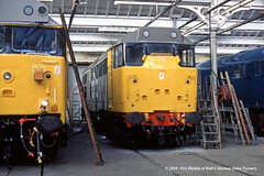 10/03/1985 - BREL Doncaster Works, Doncaster, South Yorkshire. (53A Models) Tags: britishrail brush type2 class37 31252 diesel brel doncaster southyorkshire train railway locomotive railroad