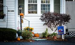 Boo!!! (Rabican7) Tags: hww happywindowwednesday windows halloween pumpkin decoration scary house door newengland newhampshire orange blue fall autumn village lake winnipesaukee street wolfeboro