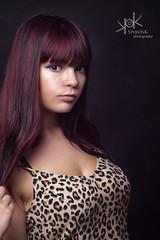 Cosplayer: Ashen Fire Keeper (SpirosK photography) Tags: ashenfirekeeper mariastrife cosplayer artist portrait studio lowkey leopard