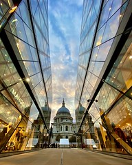 Again from One Exchange a view to St Paul's. (SaileshPanchal) Tags: ultrawideangle iphone
