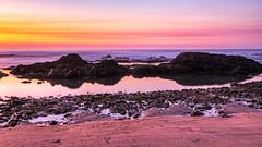Blue hour (j1985w) Tags: california pescadero ocean beach sand water reflection longexposure sunset sky clouds rocks bluehour