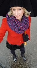 Autumn Walks (Sometimes Emma) Tags: crossdresser genderfluid m2f hat hair scarf makeup jacket skirt pvc stockings boots sissy tgirl transvestite tranny outdoor fun fem