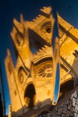 IMG_6431 (Bartek Rozanski) Tags: blue cathedral cobblestone distortion gold lisboa lisbon portugal reflection summer tower vehicle