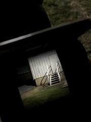 [Nite-Lite] (Angel Aperture) Tags: hasselblad 500cm night documentation film natural iphone train light stairset grass 150mm