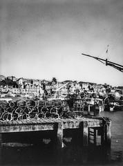 Whitby (SMLawn) Tags: polaroid blackandwhite contrast grunge seaside ships water sea town whitby village