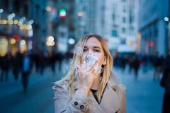Elena (OguzArslan) Tags: russia girl turkey model istanbul love blue eminönü taksim
