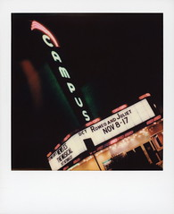Campus Theatre Neon 2 (tobysx70) Tags: polaroid originals color film for itype cameras beta 1901 pioneer member test slr680 campus theatre neon west hickory street denton texas tx sign lit illuminated glow buzzing lights night nocturnal marquee romeoandjuliet pink green polacon4 polacon2019 polacon 092919 toby hancock photography