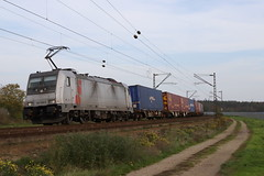 LINEAS 186 386-9 Containerzug, Waghäusel (michaelgoll777) Tags: lineas br186 traxx akiem