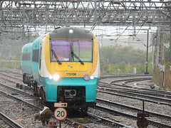 '...and it is 20, more or less' (a Transport for Wales Rail Services Class 175 diesel unit (in Arriva Trains Wales colours) approaches Crewe with a Manchester to South Wales service) (Steve Hobson) Tags: arriva trains wales transport 175 crewe