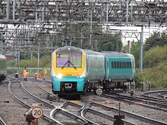 '...and it is 20, more or less' (a Transport for Wales Rail Services Class 175 diesel unit (in Arriva Trains Wales colours) approaches Crewe with a Manchester to South Wales service) (Steve Hobson) Tags: arriva trains wales transport crewe 175