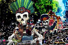 SKULLS PARADE. (Viktor Manuel 990.) Tags: skulls calaveras desfile parade digitalart artedigital díademuertos death´sday digitalpainting pinturadigital querétaro méxico victormanuelgómezg