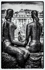 The Sisterhood look out for their own (Andy J Newman) Tags: london street bw bandw blackandwhite candid d500 londonphotographic meetup nikon photowalk scottkelby silverefex southbank england unitedkingdom artistic