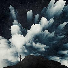 cosmic burst (Dyrk.Wyst) Tags: cloudburst surreal photomanipulation night space cosmos silhouettes stars nightscene conceptual texture