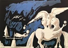 The Balance (1993) - Artur Cruzeiro Seixas (1920) (pedrosimoes7) Tags: arturcruzeiroseixas manufacturadetapeçariasdeportalegre tapestry tapestaria surrealism surrealismo surreal surrealist galeriatapeçariasdeportalegre racademiadasciencias2j bairroalto lisbon portugal portugueserepublicassembly shockofthenew ✩ecoledesbeauxarts✩
