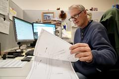 David Fletcher reviews plans (OregonDOT) Tags: oregondot oregon region5 engineer engineering odotpeople